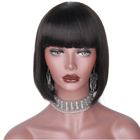 Sale CHICSHE Black Bob Short Synthetic Wigs for Black Women Heat Resistant Hairpieces
