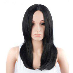 CHICSHE Heat Resistant Straight Bob Short Synthetic Wig Black Hair -