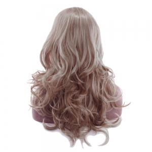 Ladies Fashion Partial Fluffy Long Curly Hair Wig -