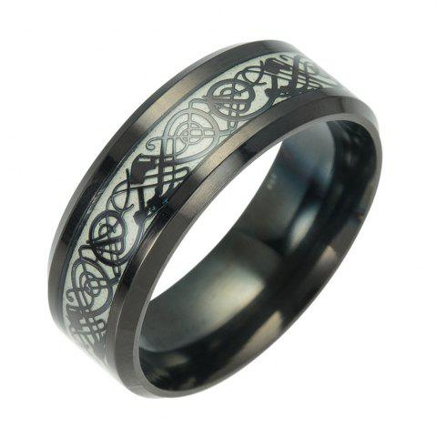 Latest Fashion Luminous Black Titanium Steel Ring