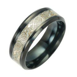 Fashion Luminous Black Titanium Steel Ring -