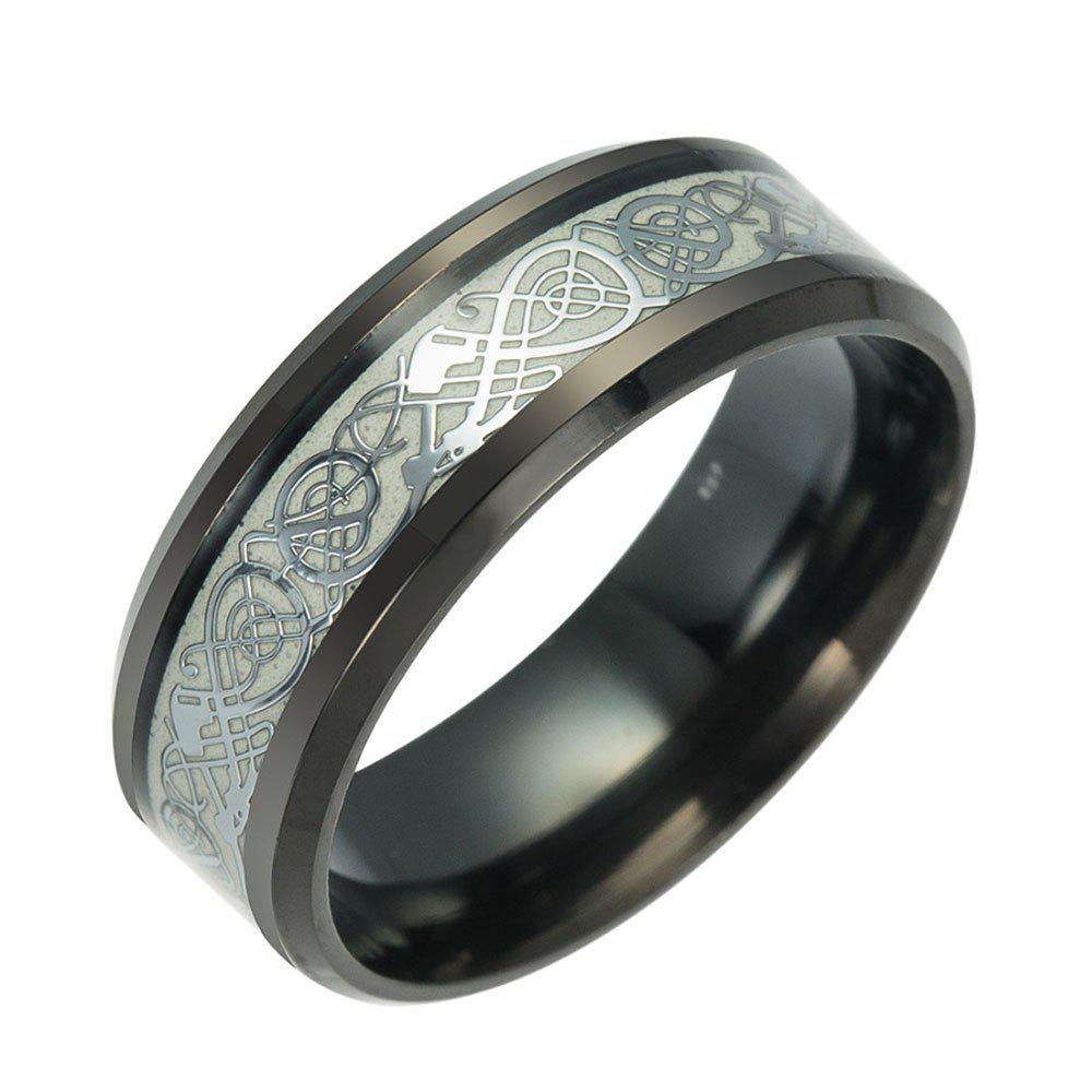 New Fashion Luminous Black Titanium Steel Ring