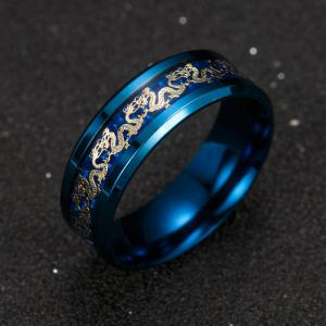 Vintage Chinese Dragon Titanium Ring -