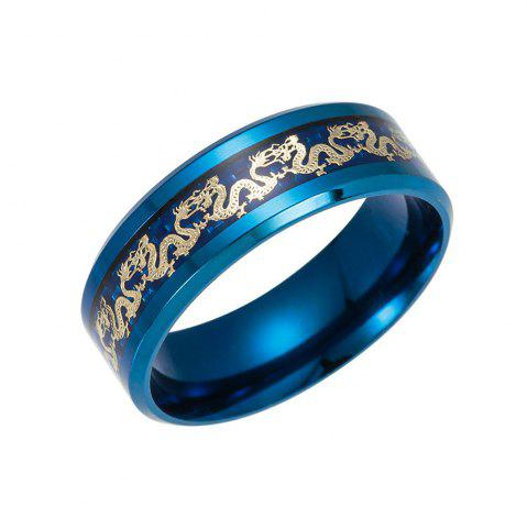 Fashion Vintage Chinese Dragon Titanium Ring