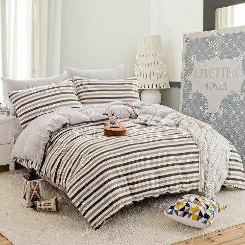 Hot Thickened Suede Cotton Four-Piece Bedding