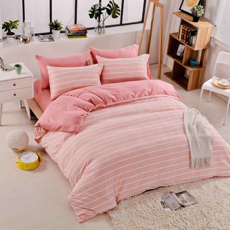 Latest Thickened Suede Cotton Four-Piece Bedding