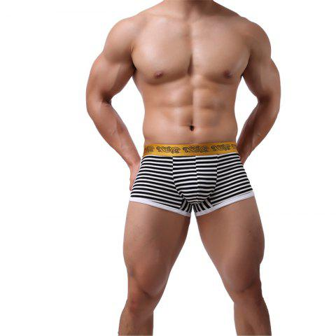Online Stripes Men's Underwear Low Waist Fashion Sexy Breathable Pants