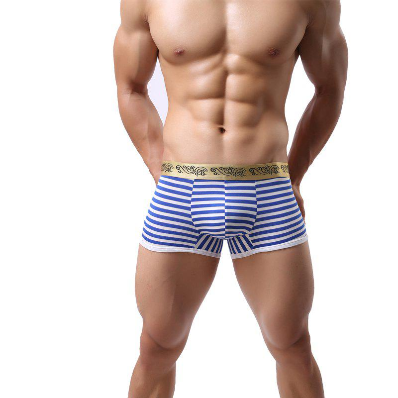Latest Stripes Men's Underwear Low Waist Fashion Sexy Breathable Pants
