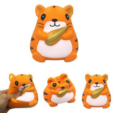 Unique Slow Rising Stress Relief Toy Made By Enviromental PU Replica Hamster Holding Corn