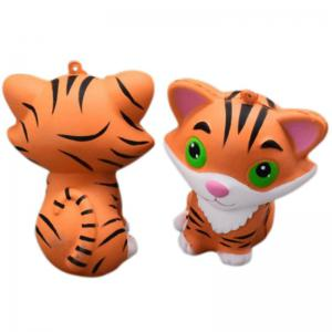 Slow Rising Stress Relief Toy Ornamental Pendant Made By Enviromental PU Replica Tiger -