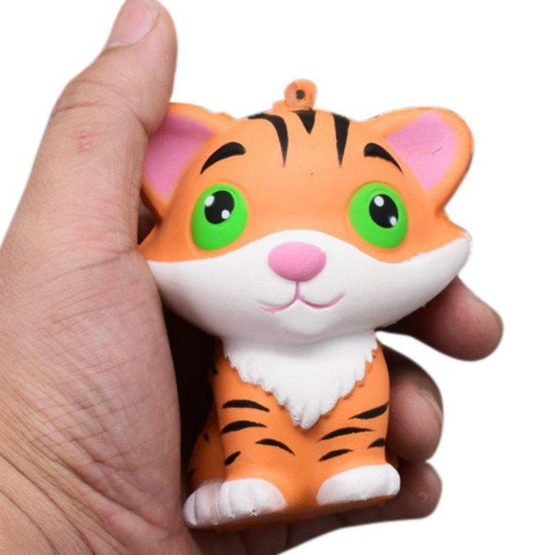 Discount Jumbo Squishy Slow Rising Stress Relief Toy Ornamental Pendant Made By Enviromental PU Replica Tiger