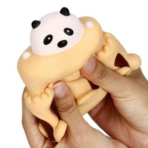 Chic Jumbo Squishy Slow Rising Stress Relief Toy Made By Enviromental PU Replica Cartoon Panda Head Cake
