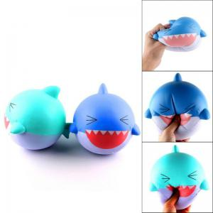Jumbo Squishy Slow Rising Stress Relief Toy Made By Enviromental PU Replica Cartoon Shark Head -