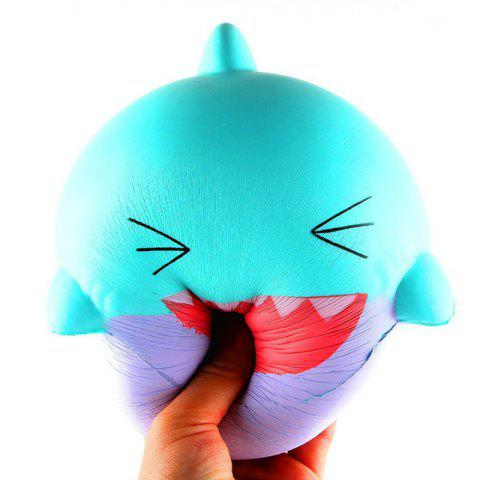 Outfit Jumbo Squishy Slow Rising Stress Relief Toy Made By Enviromental PU Replica Cartoon Shark Head