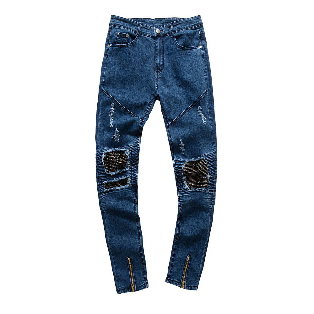 Discount Spell Hole Trend Jeans