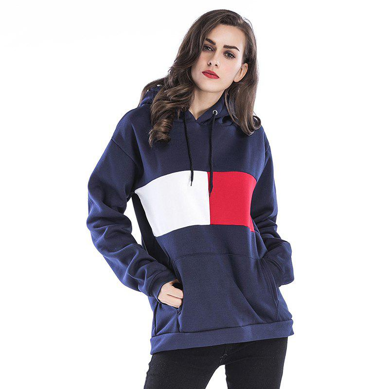 Fashion Spring Loose Stitching Long Sleeved Sweatshirts