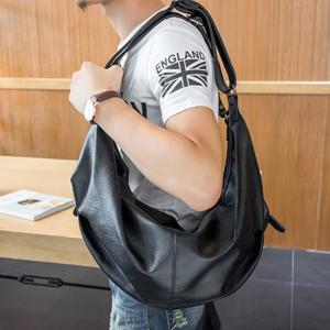 Multifunction Fashion Korean Knapsack Large Capacity Simple Leather Backpack Laptop Racksack Waterproof Bag -