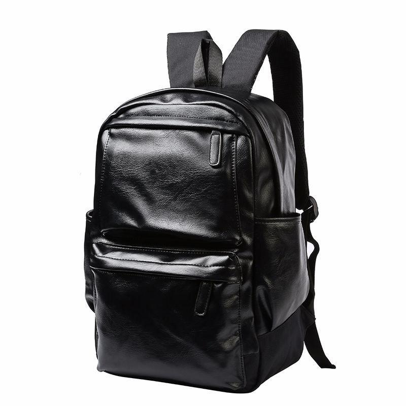 New Backpack Men's Korean Leather Fashion Outdoor Travel Knapsack Back Bag
