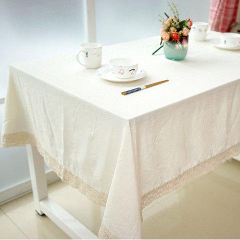 Chic Table Runner Lace Edged Home Decorative White Tablecloth