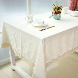 Table Runner Lace Edged Home Decorative White Tablecloth -