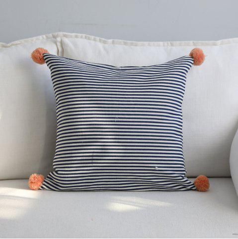 Best Home Decorative Cushion Modern Brief Style Double Sided Blue Striped Pillow Case