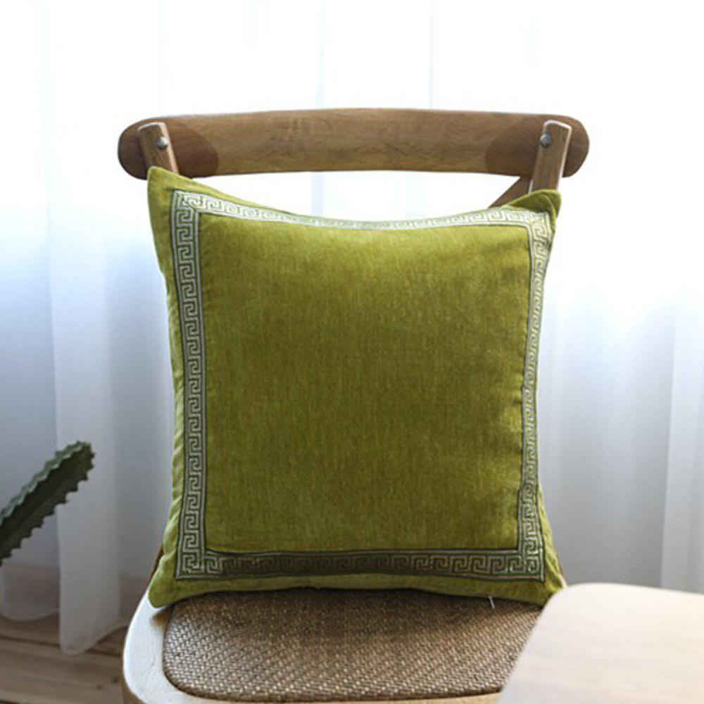 Store Yellow-Green Decorative Pillowcase Classic Suede Cloth Comfy Square Supple Cushion Cover