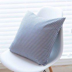 Cushion Cover Simple Blue Striped Decorative Pillowcase Car Office Decorative -