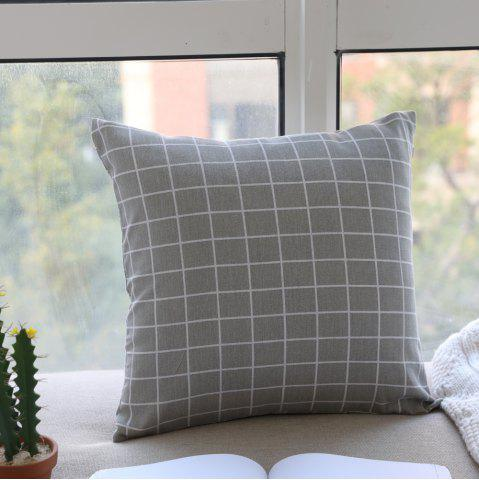 Chic Pillow Cover Nordic Breif Style Gray Plaids Cushion Cover Pillowcase