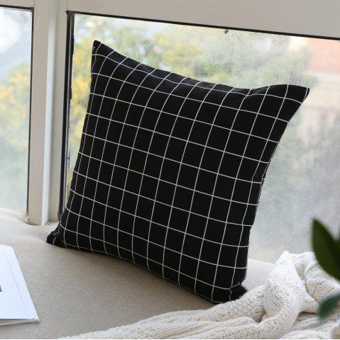 Sale Pillow Cover Nordic Breif Style Black Plaids Cushion Cover Pillowcase