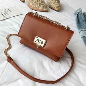 Simple Casual Chain Buckle Messenger Bag Petit Sac Carré Mode Wild Handbags -