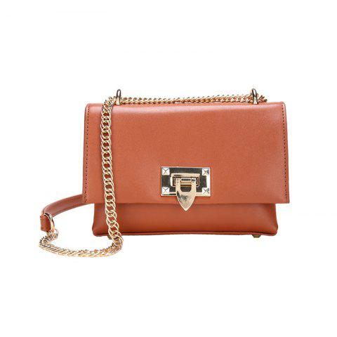 Simple Casual Chain Buckle Messenger Bag Petit Sac Carré Mode Wild Handbags