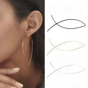 Women'S Fashion Hoop Earrings Handmade Sweet Earrings -