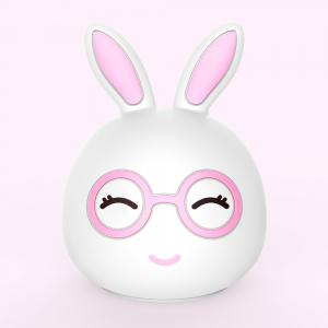 Silica Gel Intelligent Sensor Night Light Happy And Lovely Small Rabbit Seven Color Bedside Lamp -