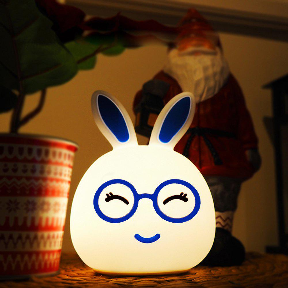 Affordable Silica Gel Intelligent Sensor Night Light Happy And Lovely Small Rabbit Seven Color Bedside Lamp