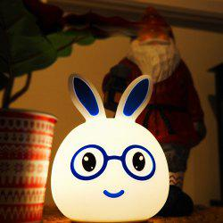 USB Charging Silica Gel Intelligent Sensor Night Light Smile And Lovely Small Rabbit Seven Color Bedside Lamp -