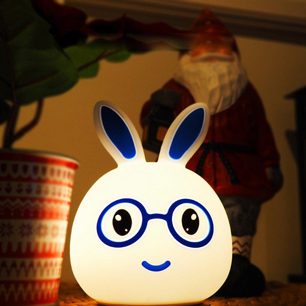 Discount USB Charging Silica Gel Intelligent Sensor Night Light Smile And Lovely Small Rabbit Seven Color Bedside Lamp