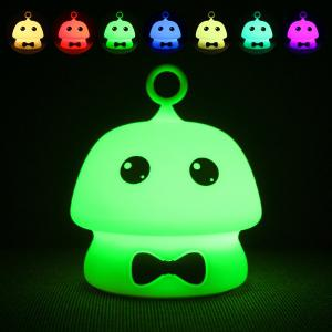 Colorful Mushroom Silica Gel Pink AND Blue Cartoon Night Light LED  On The Bedside Lamp -
