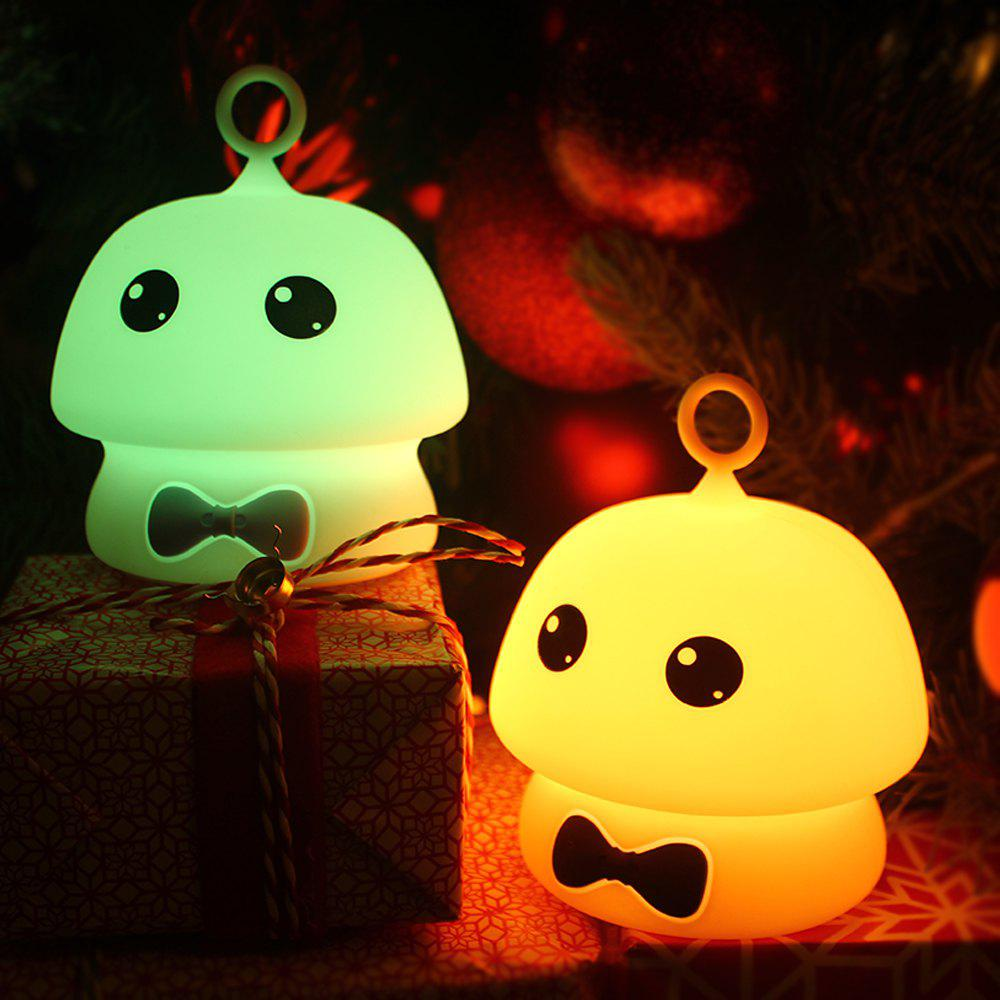 Outfits Colorful Mushroom Silica Gel Pink AND Blue Cartoon Night Light LED  On The Bedside Lamp