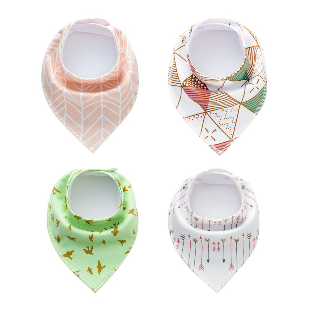 Chic 4PCS Baby Bandana Drool Bibs Soft  with 100 Percent Organic Cotton (F17)