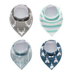 4PCS Baby Bandana Drool Bibs Soft Bib with 100 Percent Organic Cotton (F20) -
