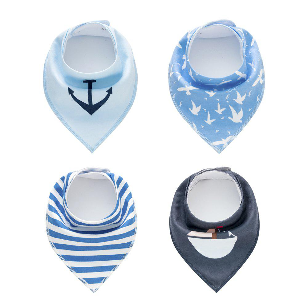 Shop 4PCS Baby Bandana Drool Bibs Soft with 100 Percent Organic Cotton (F25)