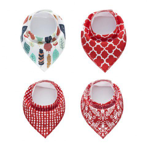 Discount 4PCS Baby Bandana Drool Bibs Soft with 100 Percent Organic Cotton (F26)