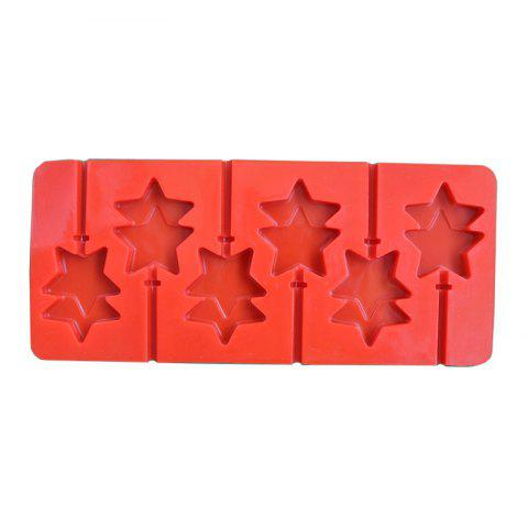 Best 2 Pcs Double Star Shape Anime Baton Silicone Chocolate Lollipop Mold Handmade DIY Baking Tools Kitchen