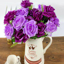 Artificial Flower Vivid Rose Bouquet Home Decorative Display -