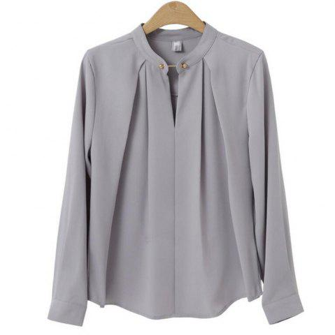 Fancy Plus Size Long Sleeved Shirt