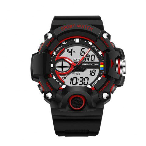 Fashion Sanda 715 1288 Fashion Trend Outdoor Sport Multi-Functional Silicone Strap Man Waterproof Watch