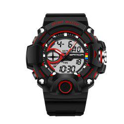Sanda 715 1288 Fashion Trend Outdoor Sport Multi-Functional Silicone Strap Man Waterproof Watch -