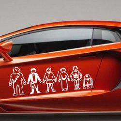 Six Cartoon People Figure Vinyl Wall Sticker Car Decals -