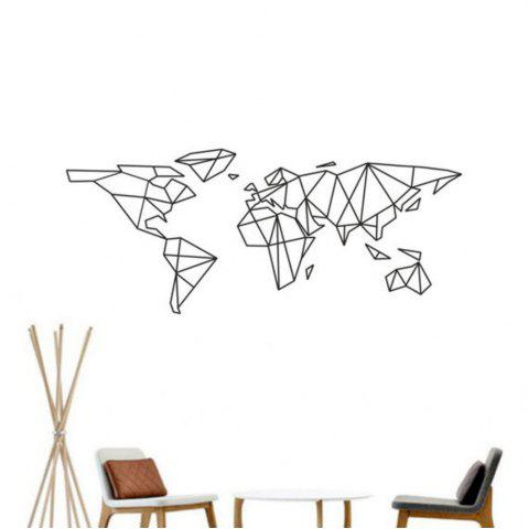 Latest Geometric World Map Vinyl Wall Sticker for Kids Room Murals Decals Home Decoration