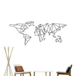 Geometric World Map Vinyl Wall Sticker for Kids Room Murals Decals Home Decoration -